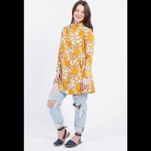 New with tags Mock neck swing tunic